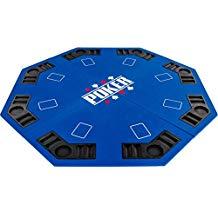 Maxstore Faltbare Pokerauflage für bis zu 8 Spieler, achteckig