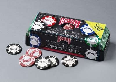 US Playing Card Company Bicycle - 100 Bicycle 8 gram Clay Chips