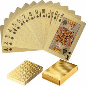 goldene Pokerkarten