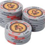 Suplaya 25 Pokerchips 10,5g Fire-Spades (grau - Wert 1.000)