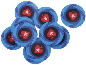 Keramikchips in Blau