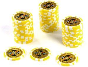 50 Poker-Chips Laser-Chips Metallkern 12g