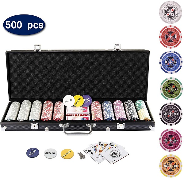 Display4top Pokerkoffer 500 Chips